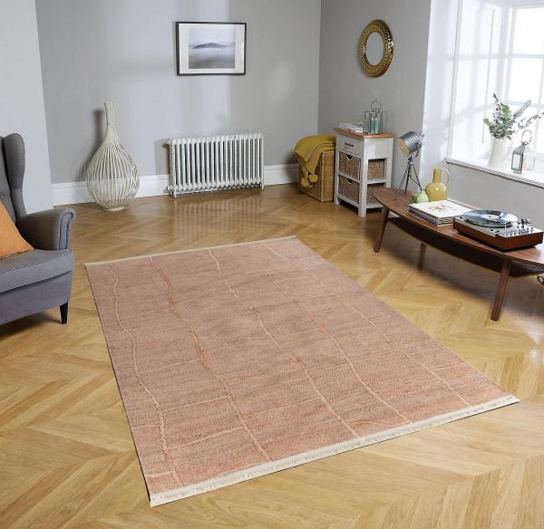 Eflin 1065 Natur Waschbarer Premium Teppich