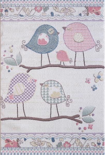 Çocuk Halısı Pastell Renk Kuş 4606