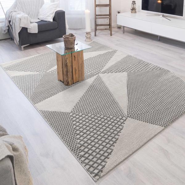 Luxury 6300 Grau Moderner Teppich