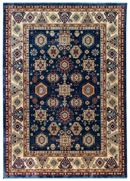 1349 / 020 Ornament Blau Hochwertiger Orientteppich