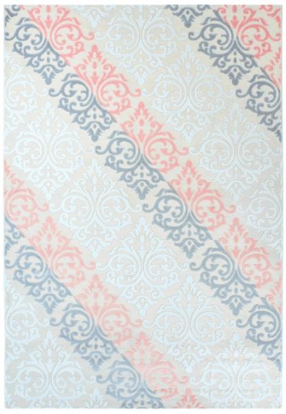 Vintage Teppich Blau 1840