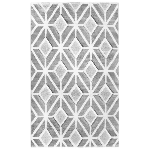 Grau Moderner Teppich Lena 309