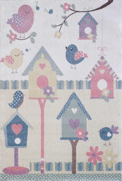 Kinderteppich Pastell Farben Mädchen 4601