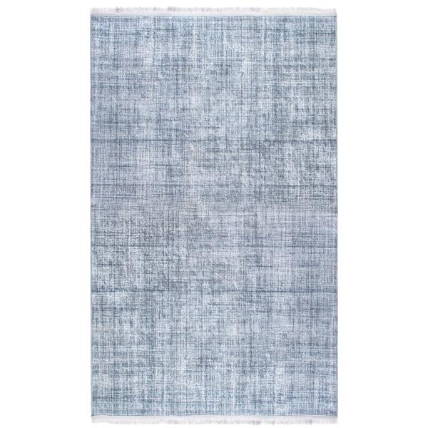 Antibakteriell Waschbarer Teppich Unifarben Grau 2831