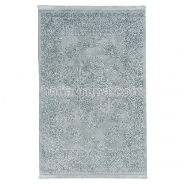 Sanat Acryl Teppich Samt Blau 2504