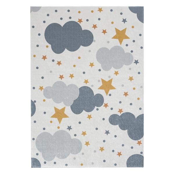 Antibakteriell Waschbarer Kinder Teppich Bulut 4030