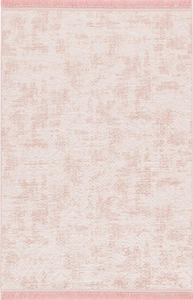 1706 Safran Antibakteriyel Yıkanabilir Halı Pembe Rengi