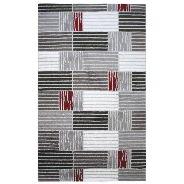 Moderner Teppich Design Karo Rot Teppich Lena 315