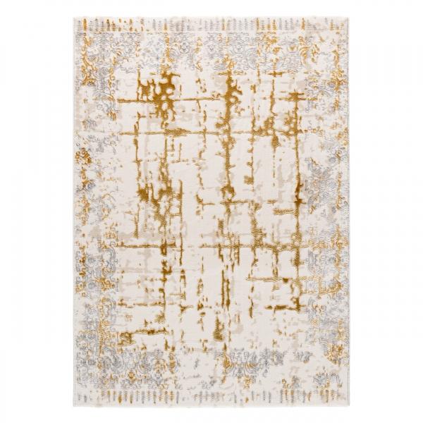 Lara 706 Kurzflor Teppich Orientalisch Gold