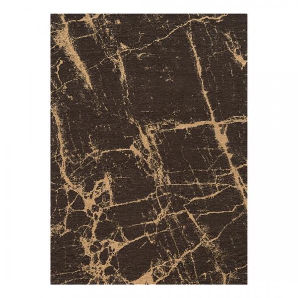 Carina 6953 Antibakteriell Waschbarer Vintage Teppich Braun