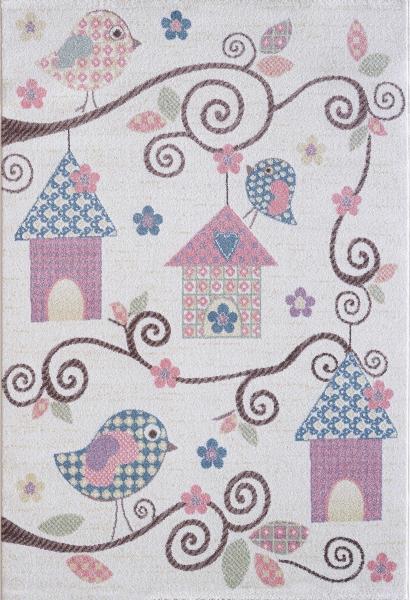 Kinderteppich Pastell Farben Mädchen 4602