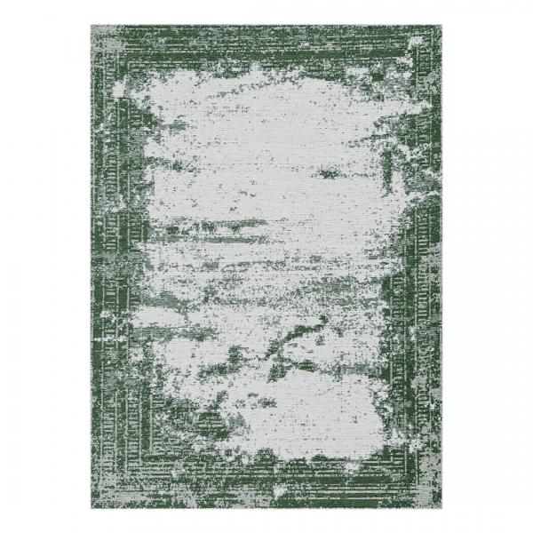 Carina 6912 Antibakteriell Waschbarer Vintage Teppich Grün