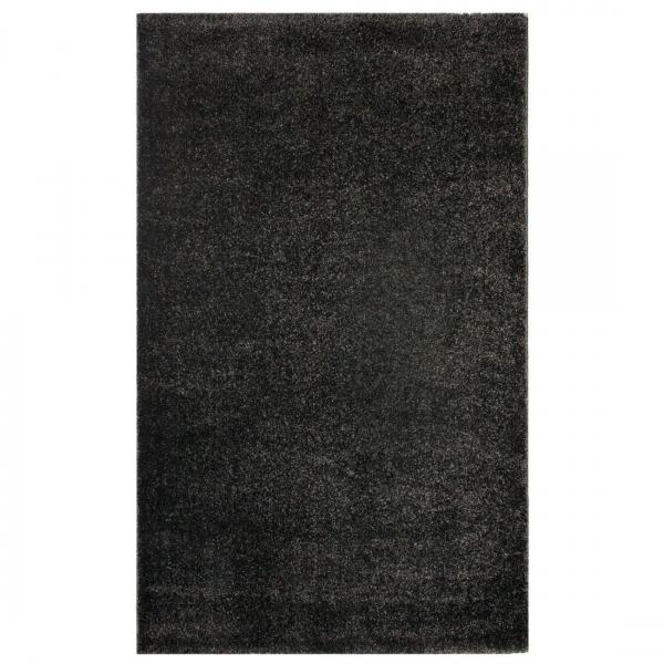 Modern Düz Siyah Kalin Halı 181