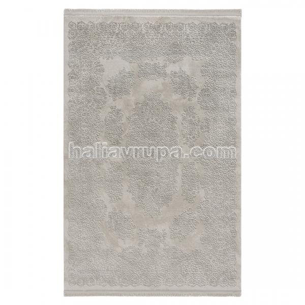 Sanat Acryl Teppich Samt Grau 2501