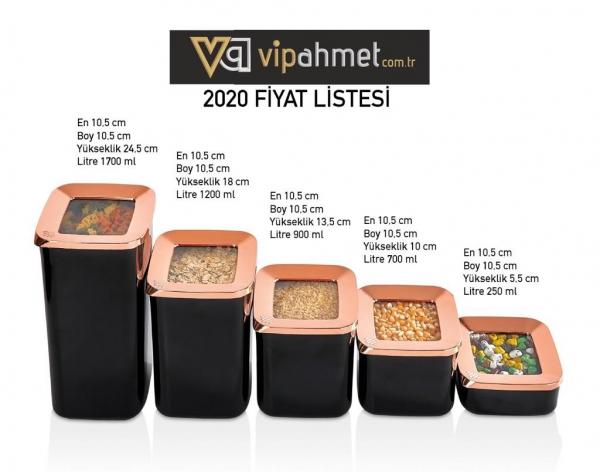 VP-111 VİP AHMET 5 LI SAKLAMA KABI SIYAH/ BAKIR
