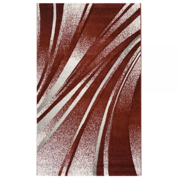 Geometrik Oymalı Tasarım Kırmızı Salon Halısı 7510