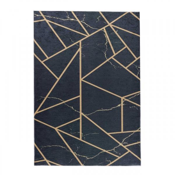 Antibakteriell Waschbarer Teppich Schwarz Design 2990