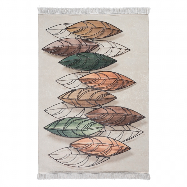 Antibakteriell Waschbarer Teppich Blätter Design 2950