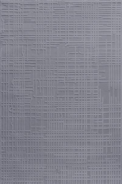 Vintage Teppich Polyester Grau 4215
