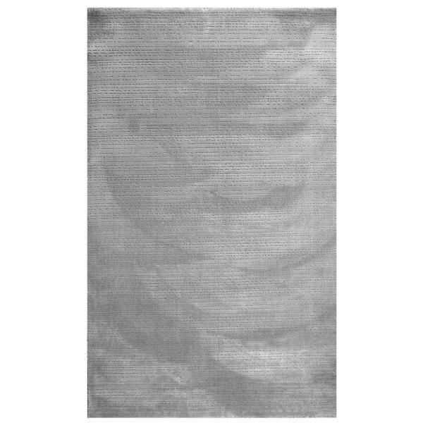 Hochwertiger Polyester Teppich Grau 4131