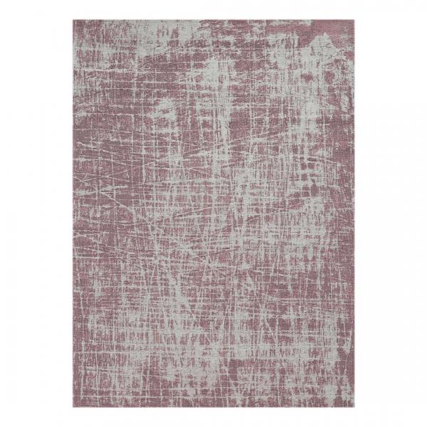 Carina 6920 Antibakteriell Waschbarer Vintage Teppich Rosa Unifarben