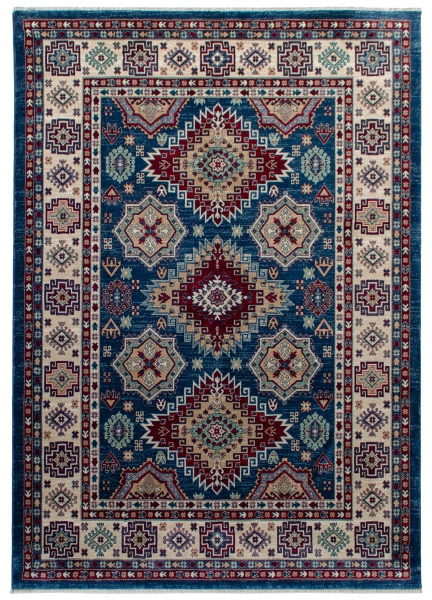 1354 / 020 Ornament Blau Hochwertiger Orientteppich