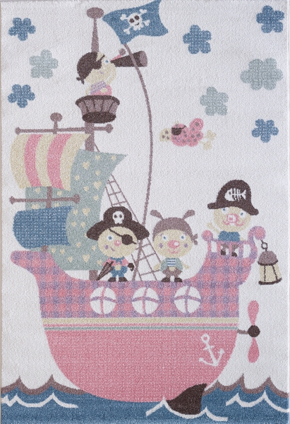 Çocuk Halısı Pastell Renkler Korsan 4604