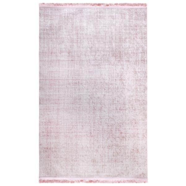 Antibakteriell Waschbarer Teppich Unifarben Rosa 2832