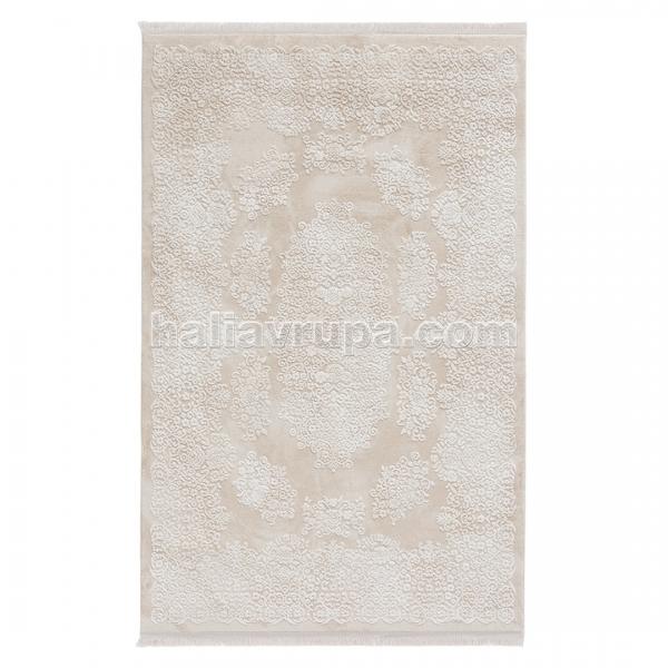 Sanat Acryl Teppich Samt 2502 Beige