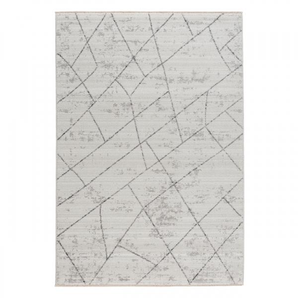 Mystic 2100 Creme Designer Kurzflor Teppich Elite Marble