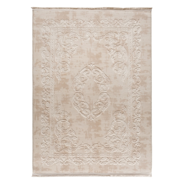 1904 Mali Antibakteriell Waschbarer Teppich Creme