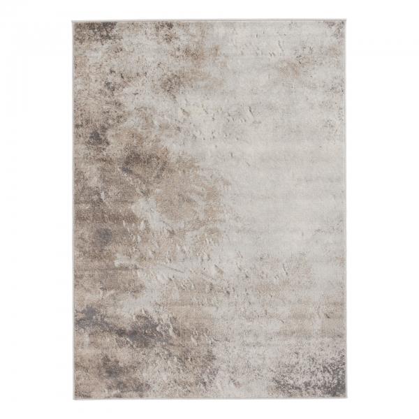 Modern Desenli Kısa Hav Halı Kahverengi 3728