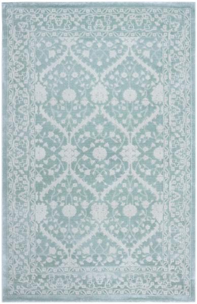 Acryl Teppich Floral Grün Blau 1925