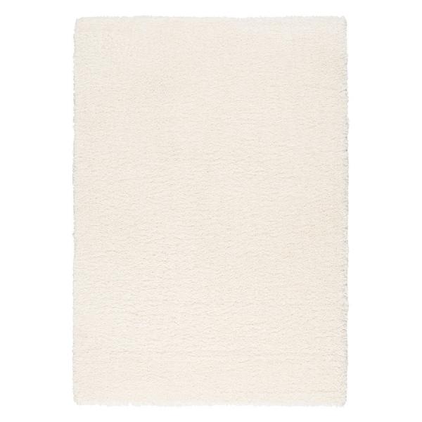 Kurzflor Shaggy Teppich Creme Ethno 1800
