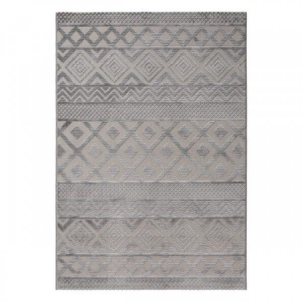 Hochwertiger Teppich Skandinavisch Grau Luxury 6100