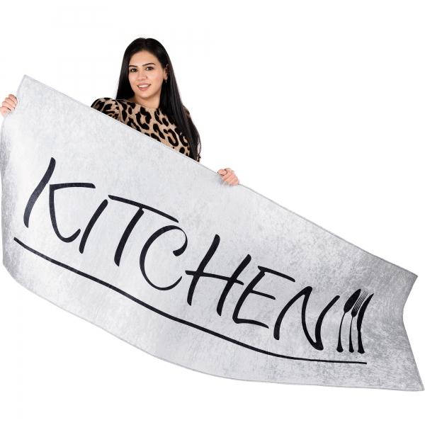 Antibakteriell Waschbarer Teppich Küchenläufer Kitchen Grau