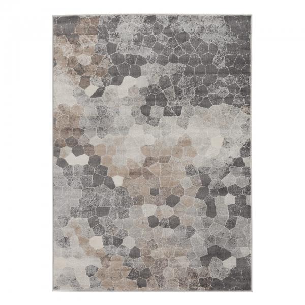 Moderner Kurzflor Teppich Braun Montana 3712
