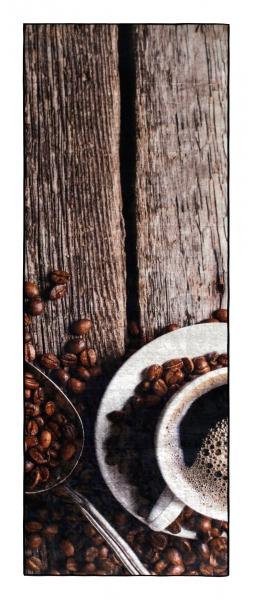 Waschbarer Küchenläufer Kaffee 65x180cm 3010