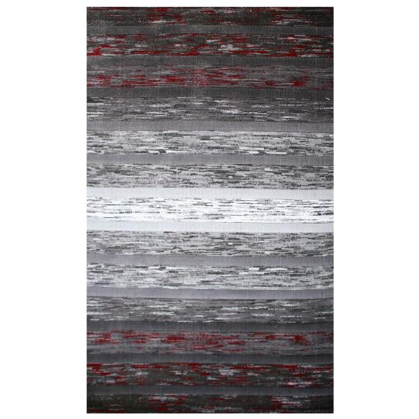 Moderner Teppich Rot Lena 305