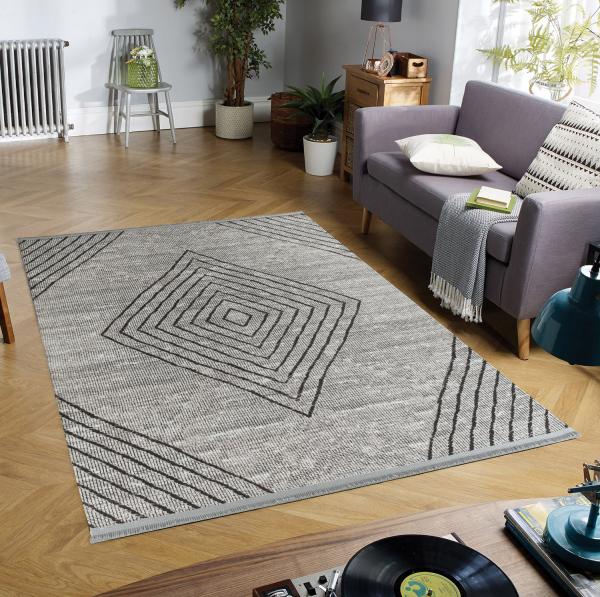 Eflin 1010 braun Waschbarer Premium Teppich