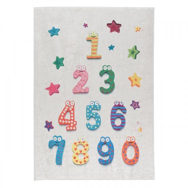 Antibakteriell Waschbarer Teppich Kinderteppich Zahlen 4060