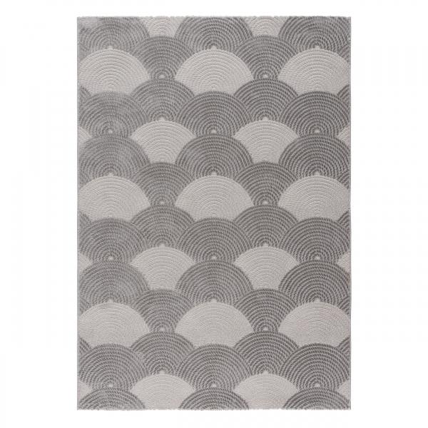 Luxury 6000 Grau Hochwertiger Teppich Gemustert