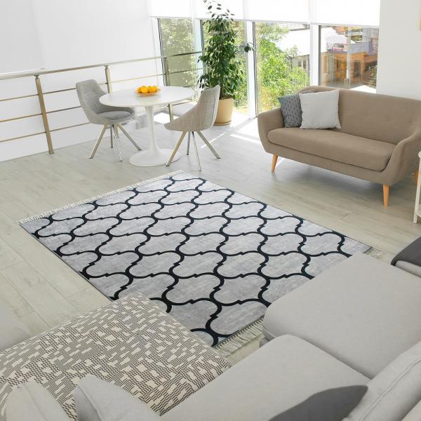Antibakteriell Waschbarer Teppich Marokko Design 2780