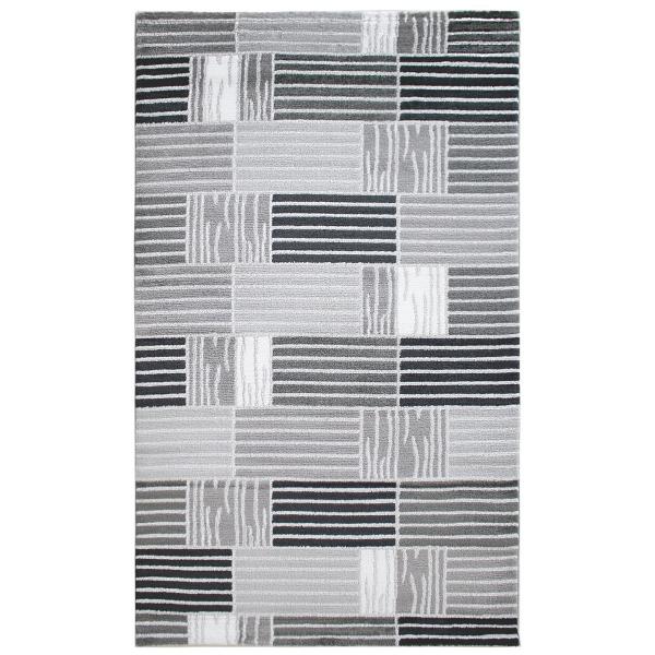 Moderner Teppich Design Karo Grau Teppich Lena 315