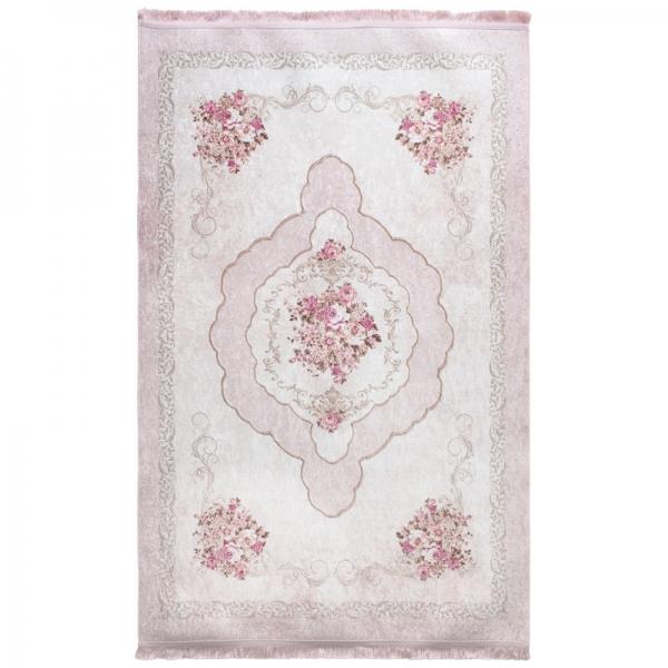 Antibakteriell Waschbarer Teppich Medaillon Rosa 2911