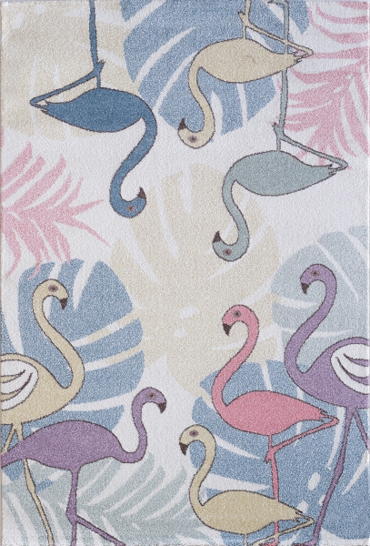 Kinderteppich Pastell Farben Flamingo 4609
