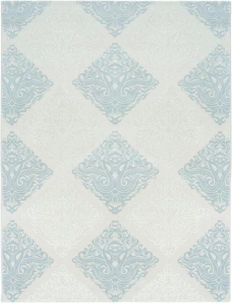 Vintage Teppich Blau 1830